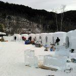 氷彫刻、いよいよ明日!